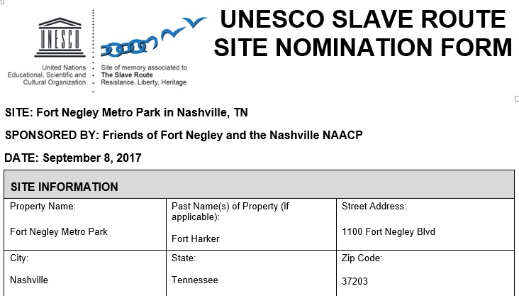 News Round-up: Nashville's Fort Negley Receives UNESCO Slave Route Designation